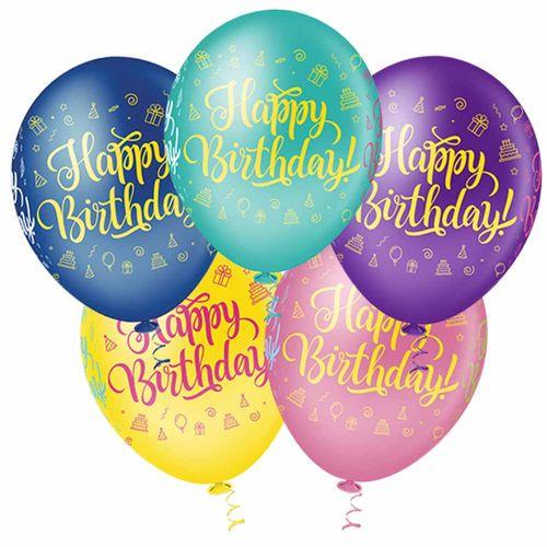 Bexiga-Fantasia-Happy-Birthday-10-Sortida-Pic-Pic-25-Unidades
