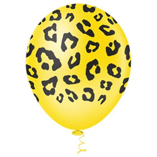 Bexiga-Fantasia-Leopardo-10-Amarela-Pic-Pic-25-Unidades