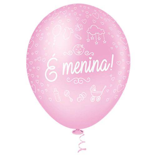Bexiga-Fantasia-E-Menina-10-Rosa-Baby-Pic-Pic-25-Unidades
