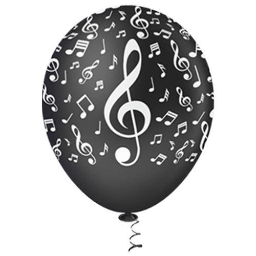 Bexiga-Fantasia-Notas-Musicais-10-Preto-com-Branco-Pic-Pic-25-Unidades