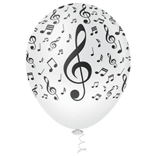 Bexiga-Fantasia-Notas-Musicais-10-Clear-com-Preto-Pic-Pic-25-Unidades