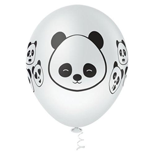 Bexiga-Fantasia-Panda-10-Branco-com-Preto-Pic-Pic-25-Unidades