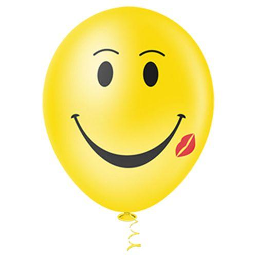 Bexiga-Fantasia-Smile-10-Amarela-Pic-Pic-25-Unidades
