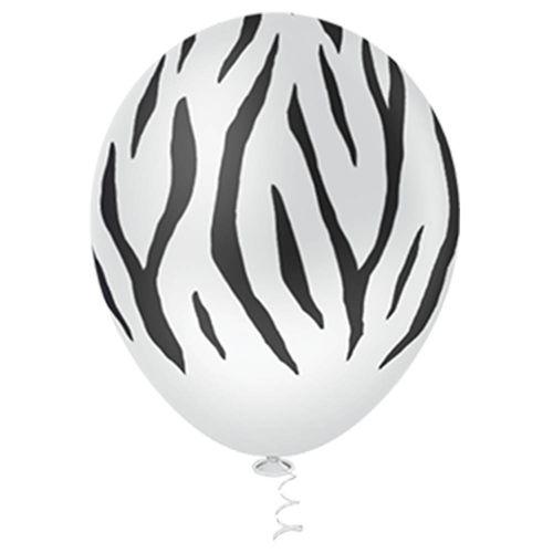 Bexiga-Fantasia-Zebra-10-Branca-Pic-Pic-25-Unidades