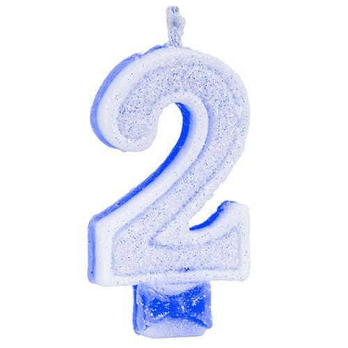 Vela-de-Aniversario-Super-Glitter-Azul-Regina-Numero-2