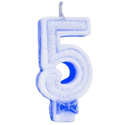 Vela-de-Aniversario-Super-Glitter-Azul-Regina-Numero-5