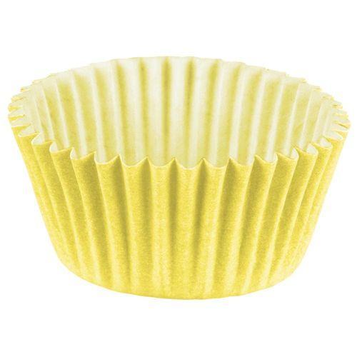 Forminha-de-Papel-Nº4-Amarela-Regina-100-Unidades