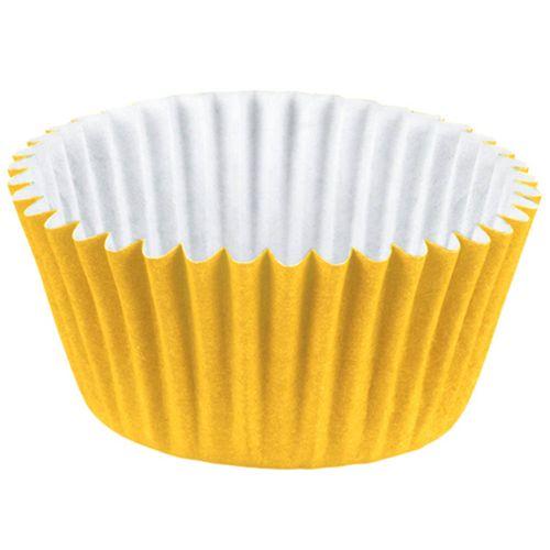 Forminha-de-Papel-Nº4-Colors-Amarela-Regina-100-Unidades