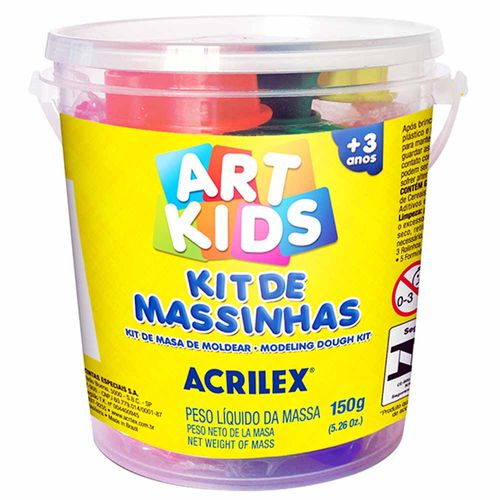 Kit-de-Massinha-de-Modelar-150g-Art-Kids-Acrilex