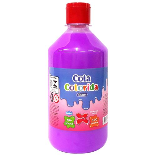 Cola-para-Slime-Neon-500g-Roxa-Make-Mais