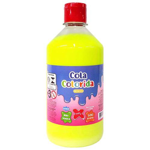 Cola-para-Slime-Neon-500g-Amarela-Make-Mais