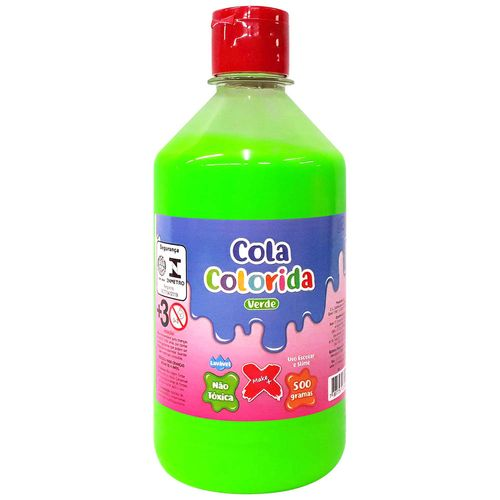 Cola-para-Slime-Neon-500g-Verde-Make-Mais