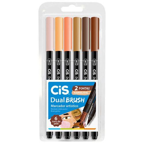 Marcador-Artistico-6-Cores-Dual-Brush-Tons-de-Pele-Aquarelavel-Cis