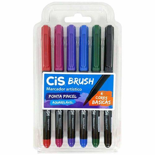 Marcador-Artistico-6-Cores-Brush-Basicas-Aquarelavel-Cis