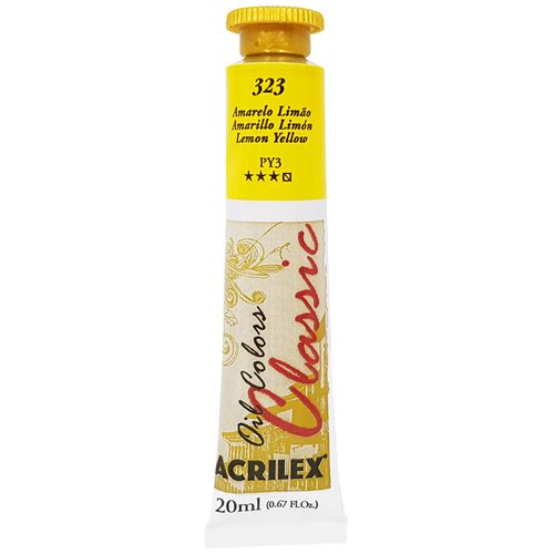 Tinta-Oleo-20ml-Classic-323-Amarelo-Limao-Acrilex
