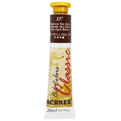 Tinta-Oleo-20ml-Classic-337-Marrom-Van-Dyck-Acrilex