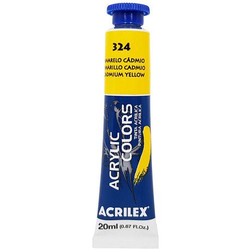 Tinta-Acrilica-Acrylic-Colors-20ml-324-Amarelo-Cadmio-Acrilex