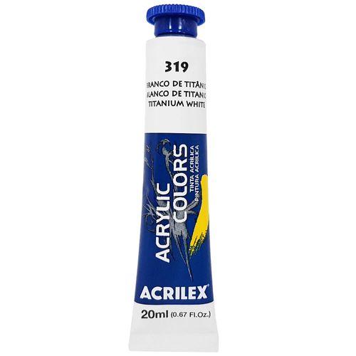 Tinta-Acrilica-Acrylic-Colors-20ml-319-Branco-de-Titanio-Acrilex