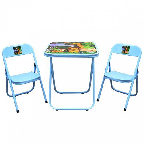 Conjunto-de-Mesa-Infantil-Azul-com-2-Cadeiras-Utilaco