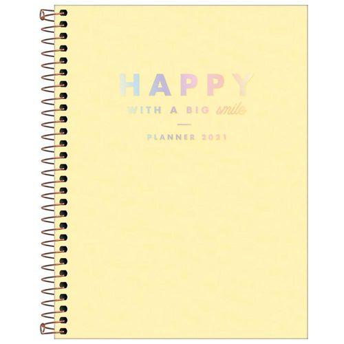 Planner-2021-Espiral-Happy-Amarelo-M7-Tilibra