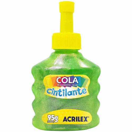Cola-Cintilante-95g-Verde-Acrilex
