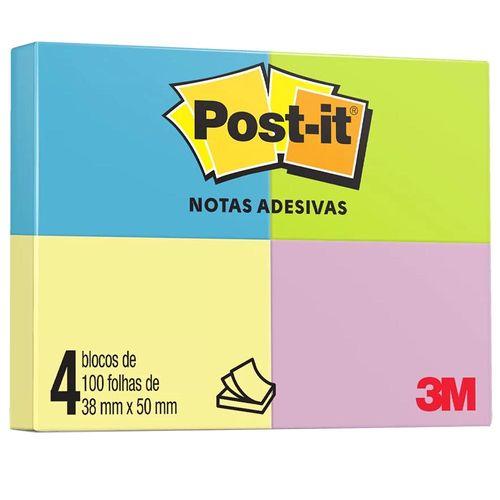 Bloco-Adesivo-Post-it-3M-38x50mm-Colorido-4x100-Folhas