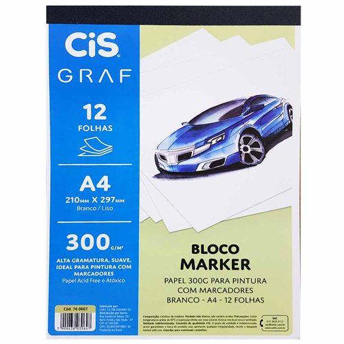 Bloco-Marker-A4-300g-Cis-Graf-20-Folhas