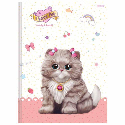 Caderno-Brochura-I-Love-Pet-48-Folhas-Sao-Domingos