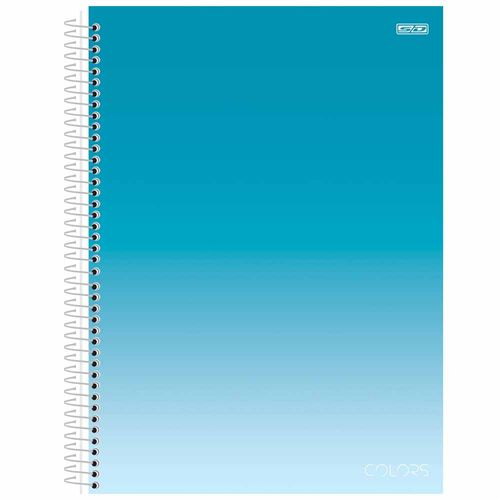 Caderno-Universitario-1-Materia-Colors-Azul-80-Folhas-Sao-Domingos