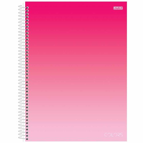 Caderno-Universitario-10-Materias-Colors-Pink-160-Folhas-Sao-Domingos