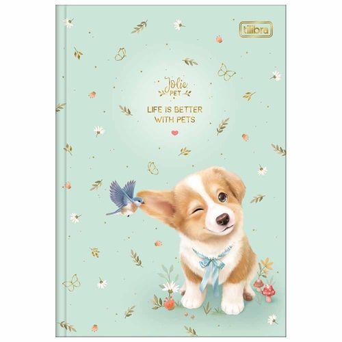 Caderno-14-Brochura-Jolie-Pet-80-Folhas-Tilibra