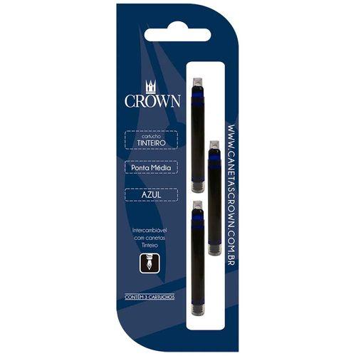 Carga-para-Caneta-Tinteiro-Crown-CA32005A-Azul-3-Unidades
