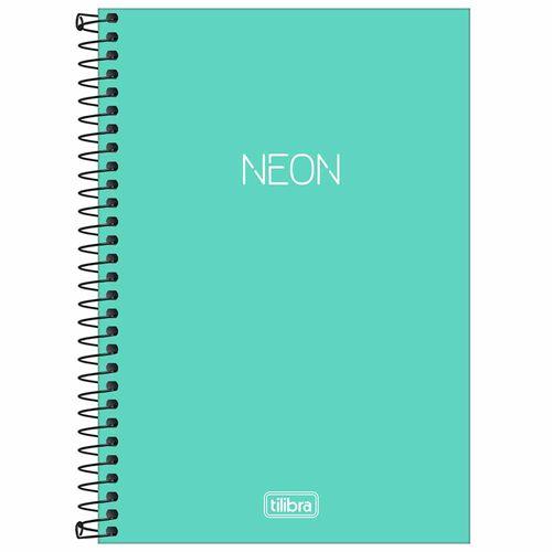 Caderno-14-Sem-Pauta-Neon-Turquesa-80-Folhas-Tilibra