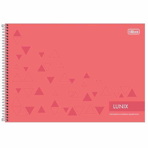 Caderno-Cartografia-Lunix-60-Folhas-Tilibra
