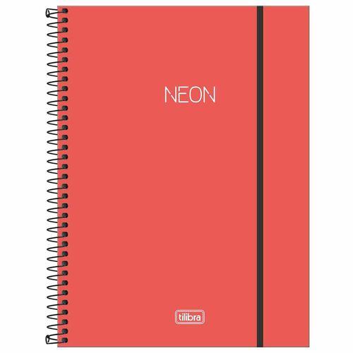 Caderno-Universitario-1-Materia-Neon-Coral-80-Folhas-Tilibra