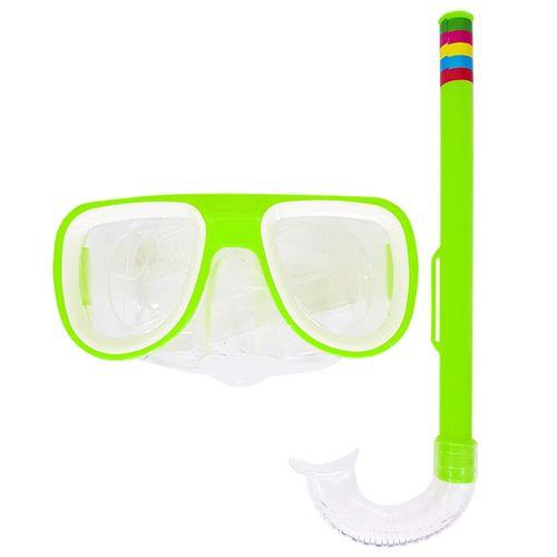 Kit-Mascara-de-Mergulho-e-Snorkel-Verde-Sun-Way