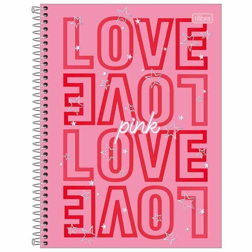 Caderno-Universitario-16-Materias-Love-Pink-256-Folhas-Tilibra