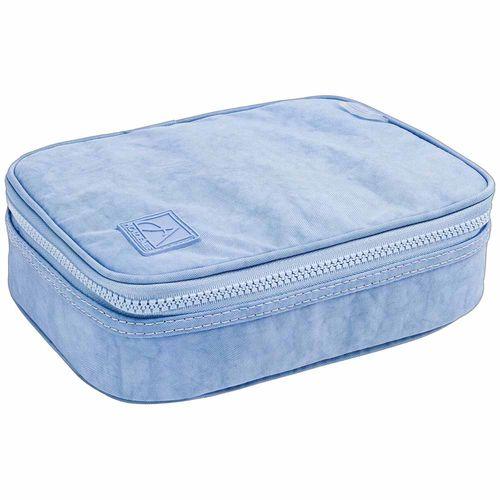 Estojo-Escolar-Academie-Box-Azul-Claro-Tilibra-305090