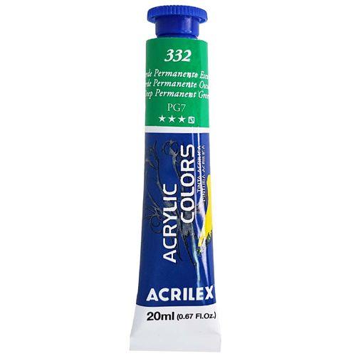 Tinta-Acrilica-Acrylic-Colors-20ml-332-Verde-Permanente-Escuro-Acrilex