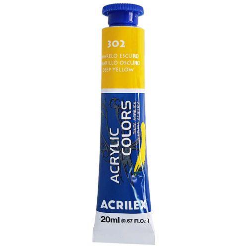 Tinta-Acrilica-Acrylic-Colors-20ml-302-Amarelo-Escuro-Acrilex