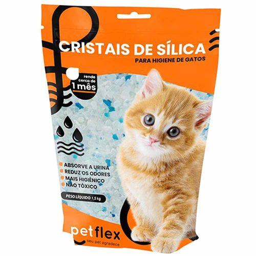 Areia-Sanitaria-Cristais-de-Silica-para-Gatos-15Kg-Petflex