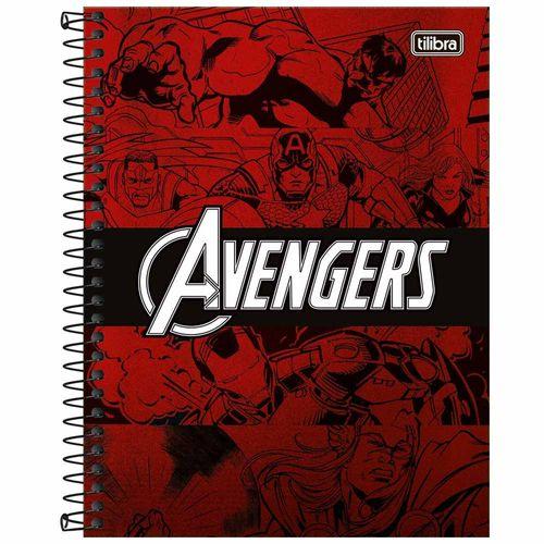 Caderno-Colegial-1-Materia-Vingadores-80-Folhas-Tilibra