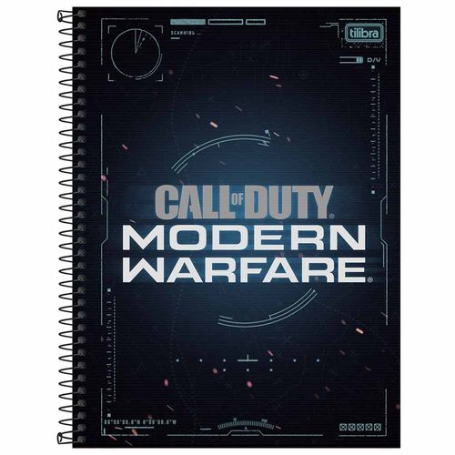 Caderno-Universitario-10-Materias-Call-of-Duty-160-Folhas-Tilibra