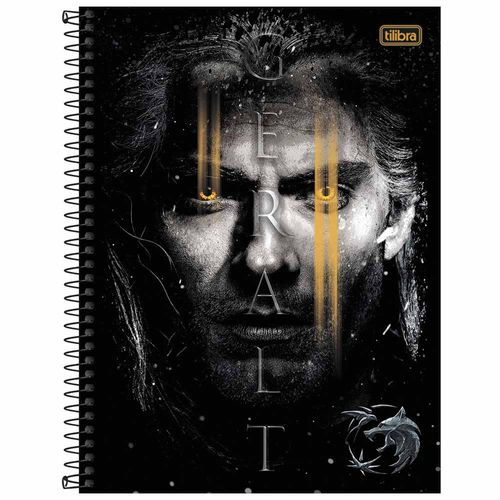 Caderno-Universitario-10-Materias-The-Witcher-160-Folhas-Tilibra