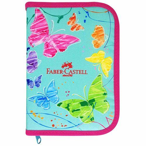 Estojo-Escolar-Borboletas-Verde-Faber-Castell