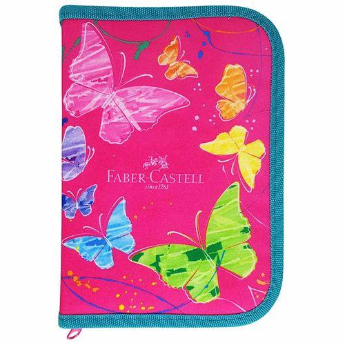 Estojo-Escolar-Borboletas-Rosa-Faber-Castell