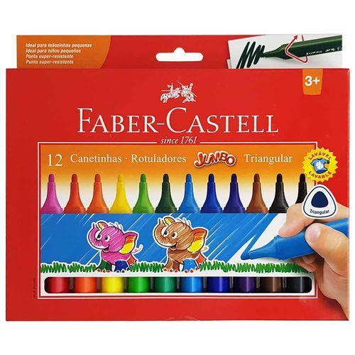 Canetinha-Hidrografica-12-Cores-Jumbo-Triangular-Faber-Castell