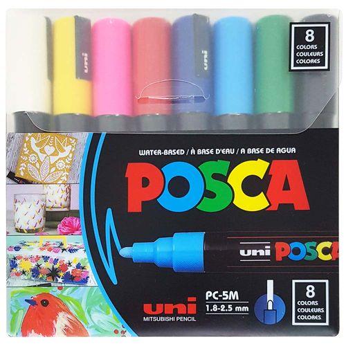 Caneta-Posca-PC-5M-2.5mm-Branca-Uniball-8-Unidades