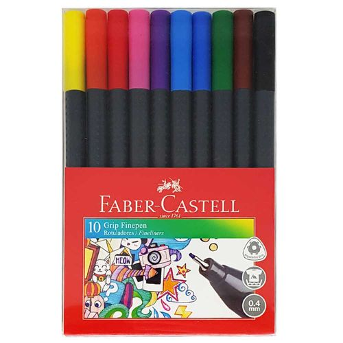 Caneta-Grip-Finepen-0.4-Faber-Castell-10-Unidades