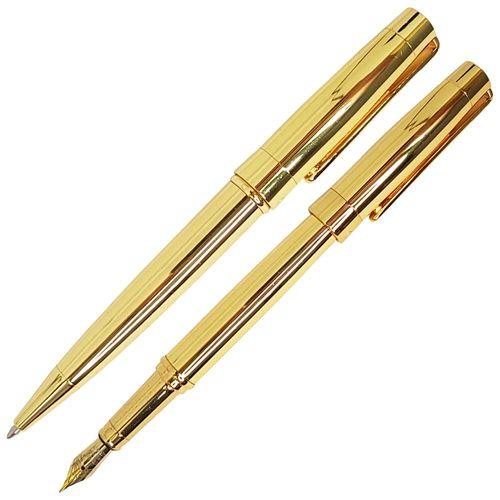 Conjunto-Caneta-Esferografica-e-Tinteiro-Crown-President-Dourada